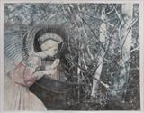 Annunciation of the trees by bronwen coe, Painting, Mixed Media on paper