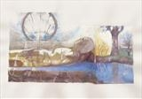 Dreaming Effigy by the river by bronwen coe, Painting, Mixed Media on paper
