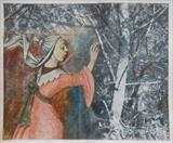 Woodland Epiphany by bronwen coe, Painting, Mixed Media on paper